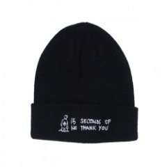 "KROOKED ビーニー ""NO THANK YOU BEANIE"" (Black)"