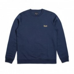 "BRIXTON クルースウェット ""POTRERO CREW FLEECE"" (Navy)"