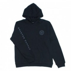 "BRIXTON パーカ ""OATH II HOOD FLEECE"" (Black)"