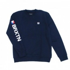 "BRIXTON クルースウェット ""STOWELL II CREW FLEECE"" (Navy)"