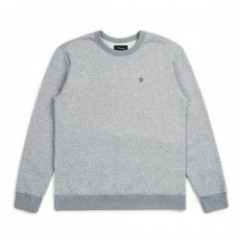 "BRIXTON クルースウェット ""B-SHIELD CREW FLEECE"" (Heather Gray)"