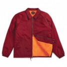 "BRIXTON ジャケット ""CLAXTON COLLAR SHERPA JACKET"" (Burgundy)"
