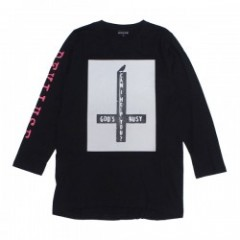 "Deviluse L/STシャツ ""GOD'S BUSY L/S TEE"" (Black)"