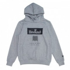 "Deviluse ""DEAL WITH THE DEVIL PULLOVER HOODED"" Gry"