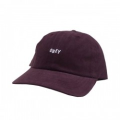 "OBEY キャップ ""JUMBLE BAR Ⅲ 6 PANEL CAP"" (Eggplant)"