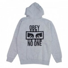 "OBEY パーカ ""NO ONE PULLOVER HOOD"" (Heather Gray)"