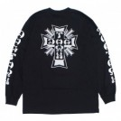 "DOGTOWN L/STシャツ ""CROSS LOGO LONG SLEEVE TEE"" (Black)"
