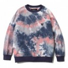 "Deviluse クルースウェット ""TIE DYE CREWNECK SWEAT"" (Navy/Plum)"