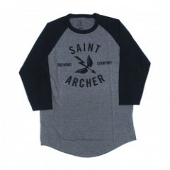"SAINT ARCHER ""CLASSIC FRONT PRINT 3/4 SLEEVE"" gry"