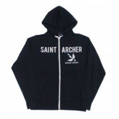 "★30%OFF★ SAINT ARCHER ""HOOD FRONT ZIP"" Black/white"