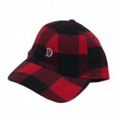 "Deviluse キャップ ""CHECK D CAP"" (Red/Black)"