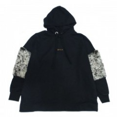 "Deviluse レディースパーカ ""WOMAN PULLOVER HOODED"" (Black)"