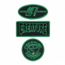 "CREATURE ワッペン3枚セット ""CREATURE PATCH SET"" (Black/Green)"