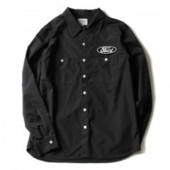"FUCT L/Sシャツ ""SSDD INDUSTRIAL SHIRT"" (Chacoal)"