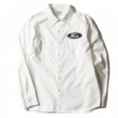 "FUCT L/Sシャツ ""SSDD INDUSTRIAL SHIRT"" (White)"