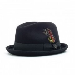 "BRIXTON ハット ""GAIN FEDORA HAT"" (Black)"