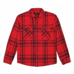 "★30%OFF★ BRIXTON ""BOWERY L/S FLANNEL"" (Red/Black)"