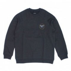 "BRIXTON クルースウェット ""WHEELER CREW"" (Washed Black)"
