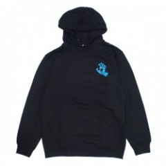 "SANTA CRUZ パーカ ""SCREAMING MINI HAND PULLOVER HOOD""  (Black)"
