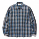 "RADIALL L/Sシャツ ""EL CAMINO OPEN COLLARED SHIRT L/S"" (Blue)"