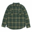 "BRIXTON L/Sシャツ ""BOWERY L/S FLANNEL"" (Evergreen)"