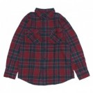 "BRIXTON L/Sシャツ ""BOWERY L/S FLANNEL"" (Burgundy)"