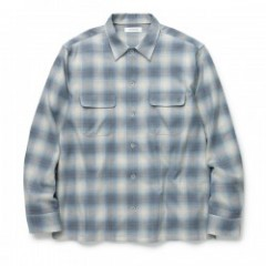 "RADIALL ""RUG TOP OPEN COLLARED SHIRT L/S"" (Blue)"