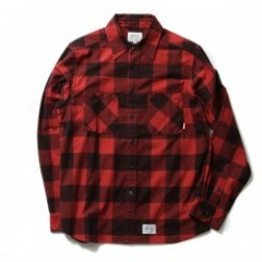 "★30%OFF★ FUCT L/Sシャツ ""PLAID FLANNEL SHIRT"" (Red)"
