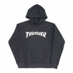 "THRASHER ""KNIT FLEECE MAG PATCH HOODIE"" (Gray)"