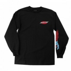 "SANTACRUZ L/STシャツ ""PHILLIPS HAND L/S TEE"" (Black)"