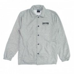 "THRASHER スウェットコーチJKT ""MAG SWEAT COACH JKT"" (Gray)"