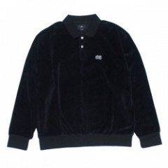 "OBEY L/Sポロシャツ ""SAUCER POLO"" (Black)"