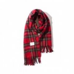 "Deviluse ストール ""CHECK STOLE"" (Red)"