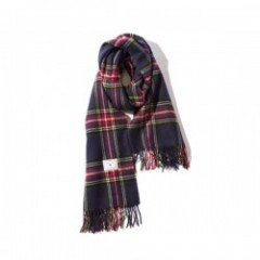 "Deviluse ストール ""CHECK STOLE"" (Navy)"
