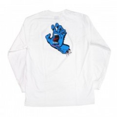 "SANTACRUZ L/STシャツ ""SCREAMING HAND L/S TEE"" (White)"