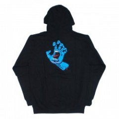 "SANTACRUZ パーカ ""SCREAMING HAND PULLOVER HOOD""  Blk"