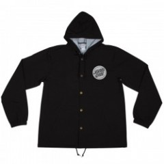 "SANTACRUZ ""HANDLED SNAP HOODED WINDBREAKER""  Black"