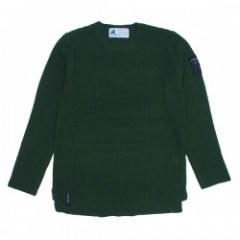 "Deviluse ワッフルニットクルー ""KNIT CREW NECK"" (Olive)"