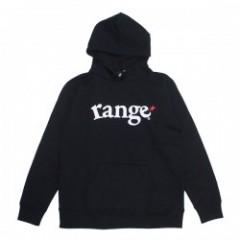 "range パーカ ""SUPER HEAVY WEIGHT 12.4oz HOODY"" (Black"