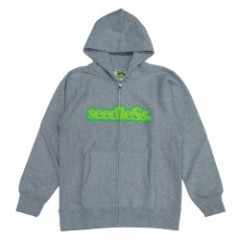 "seedleSs ジップパーカ ""COOP ZIP UP HOODY 12oz"" (H.Gray)"