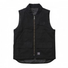 "★30%OFF★ FUCT ""GARMENT DYED UTILITY VEST"" (Black)"