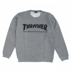 "THRASHER クルースウェット ""MAG CREW SWEAT"" (H.Gray/Black)"