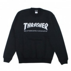 "THRASHER クルースウェット ""MAG CREW SWEAT"" (Black/White)"