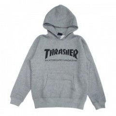"THRASHER パーカ ""MAG LOGO PARKA"" (Heather Gray/Black)"
