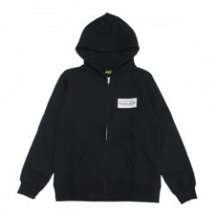 "seedleSs ジップパーカ ""NEW BOX LOGO ZIP HOODY"" (Black)"