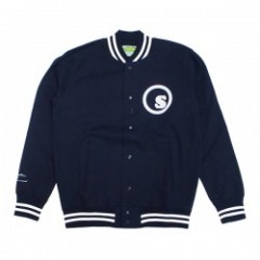 "seedleSs ジャケット ""SD SWEAT STUDIUM JKT"" (Navy)"