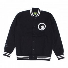 "seedleSs ジャケット ""SD SWEAT STUDIUM JKT"" (Black)"