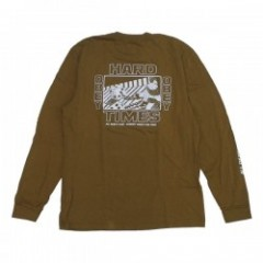 "OBEY L/STシャツ ""HARD TIMES L/S TEE"" (Dusty Tapenade)"
