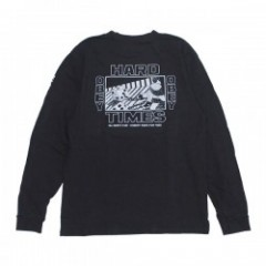 "OBEY L/STシャツ ""HARD TIMES L/S TEE"" (Dusty Black)"