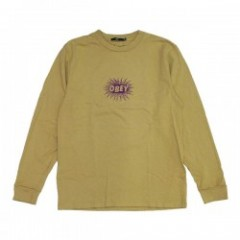 "OBEY L/STシャツ ""SPAZZ L/S TEE"" (Dusty Willow)"